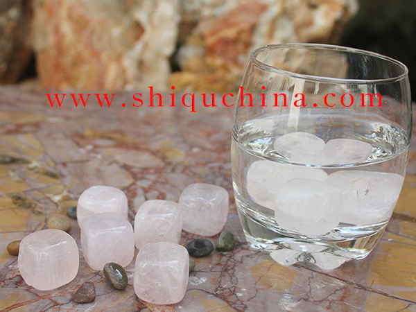 rose quartz whiskey rock/whisky stone 9pcs set